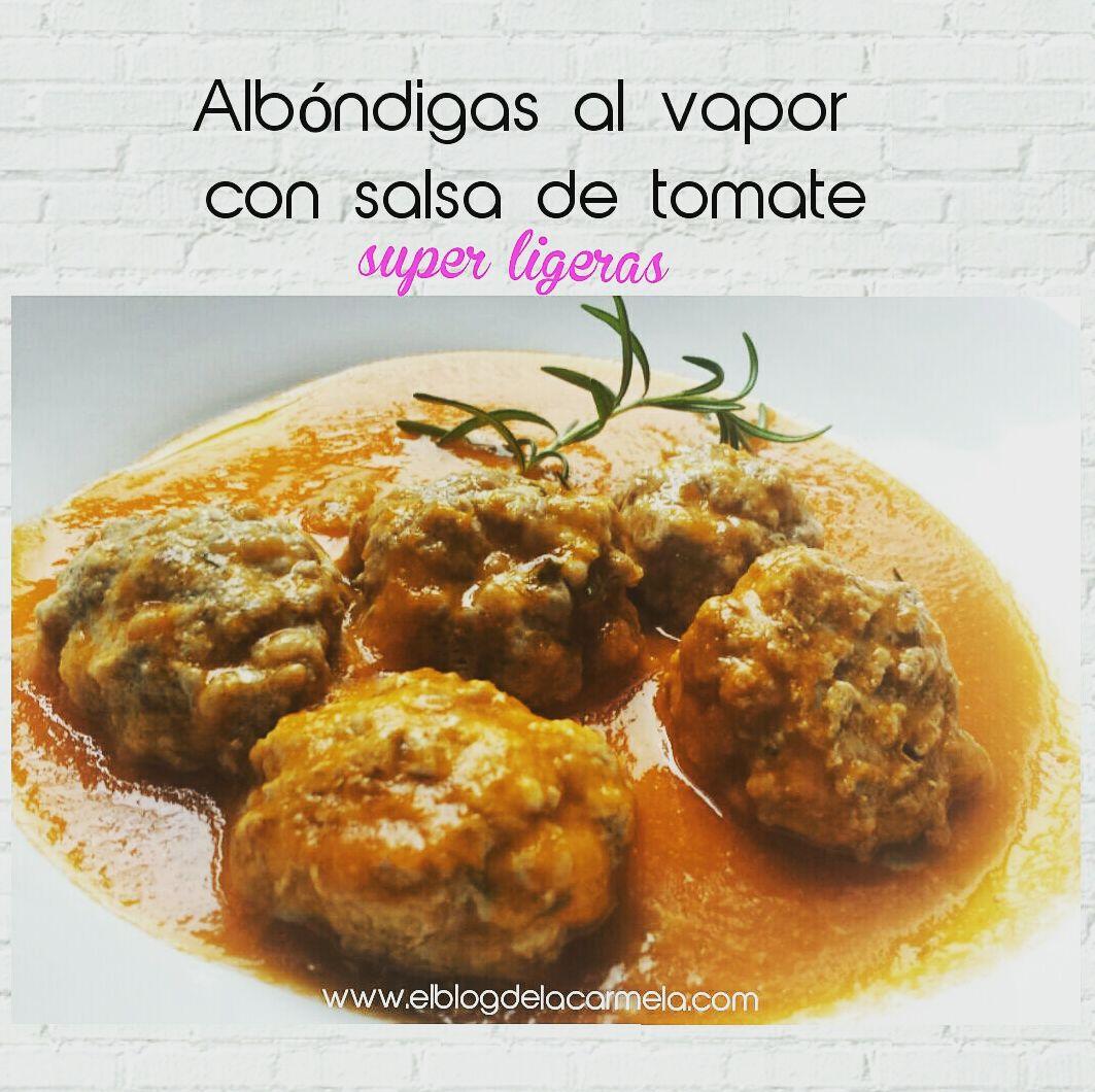 Albóndigas al vapor 😂 (con salsa de tomate) - más ligeras imposible