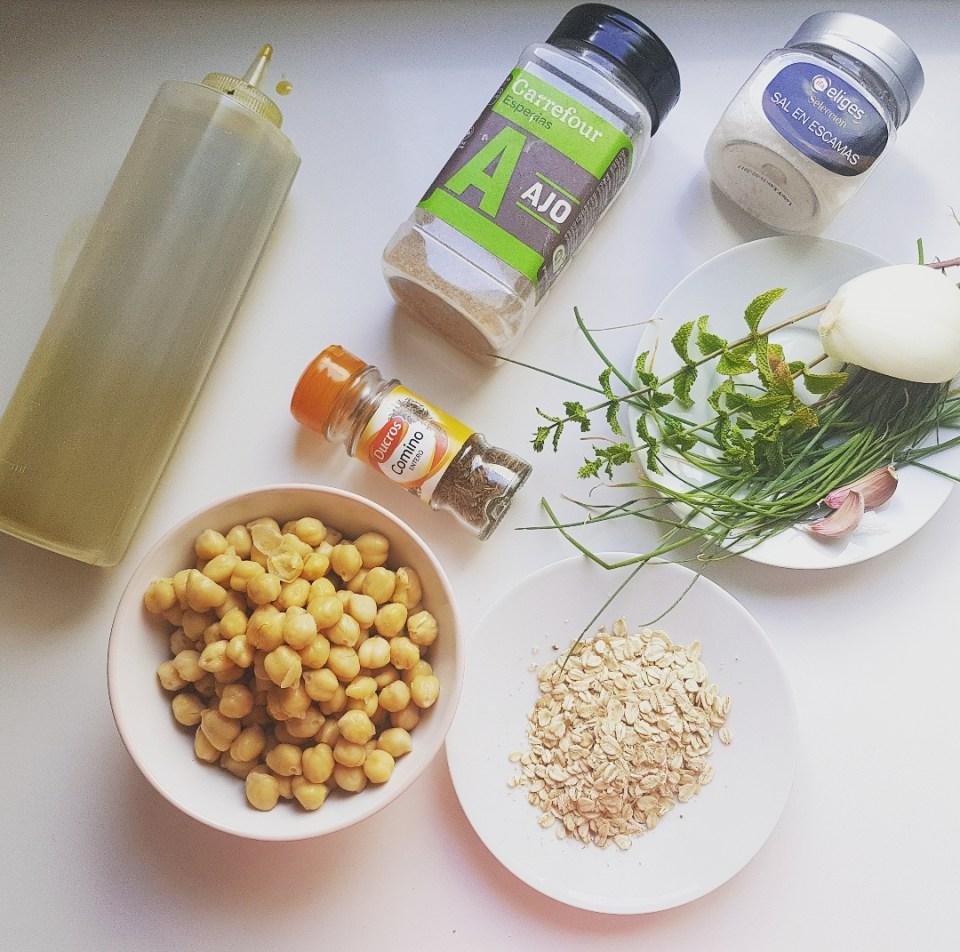 ingredientes para hacer falafeles