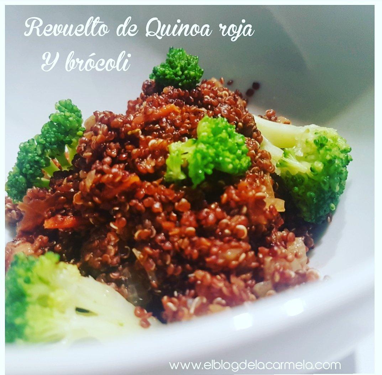 Revuelto de quinoa roja y brócoli - retomando mi vida!