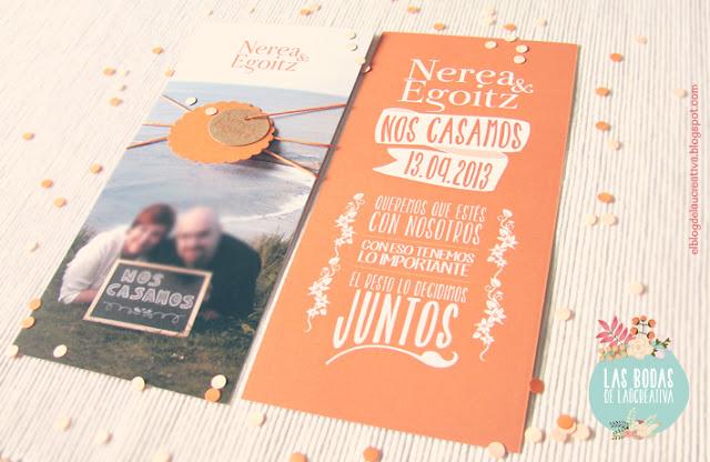 Invitaciones de boda.
