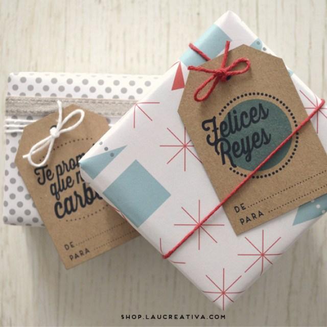 LA CHACHITIENDA   Etiquetas y chapas navideñas