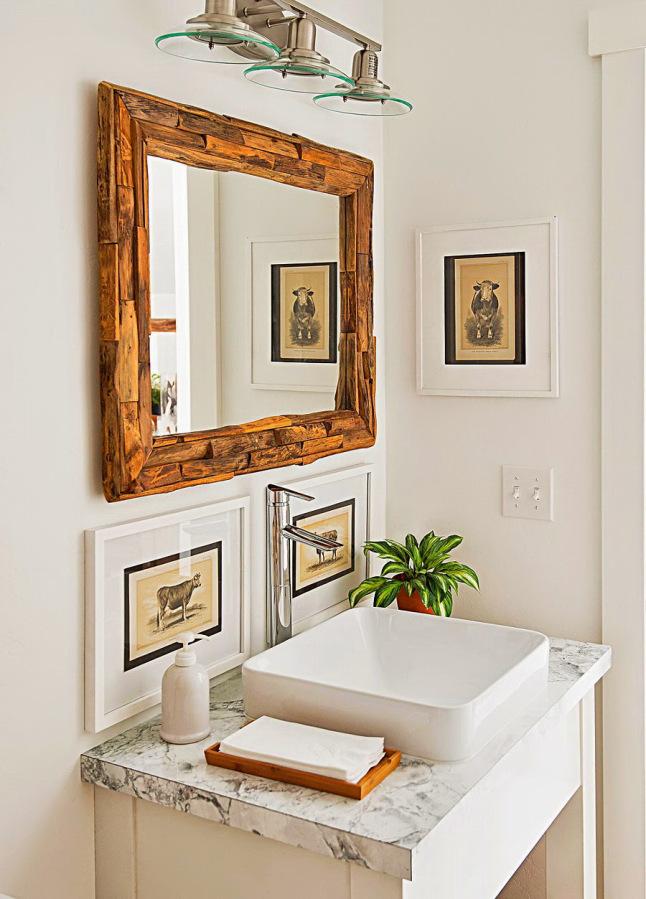 DECO | Bonito piso en blanco y madera