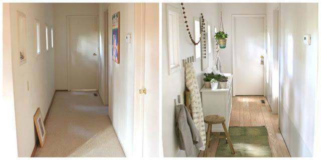 DECO | Antes y después de un pequeño recibidor III