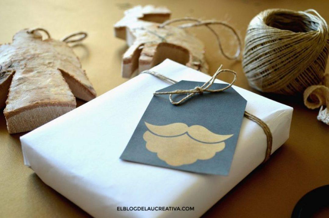 imprimible-etiqueta-navidad-gratis-dorado--papanoel-ElBlogdeLaucreativa