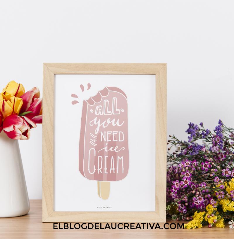 imprimible-freebie-lamina-poster-helado-elblogdelaucreativa