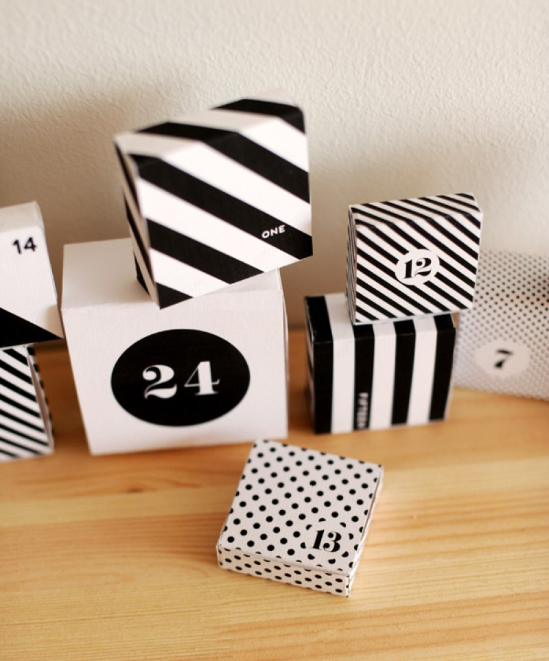 DIY | Tutoriales calendario de adviento - El blog de Laucreativa