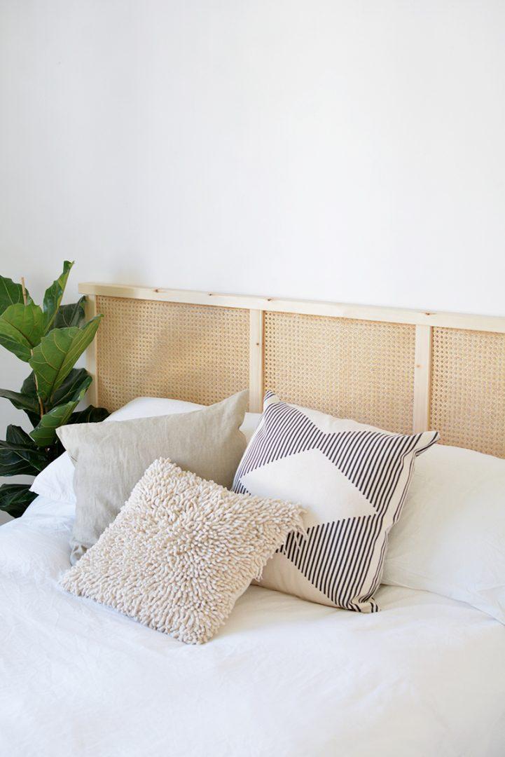 IKEA HACK | Un cabecero con cannage y un panel IVAR - El blog de Laucreativa