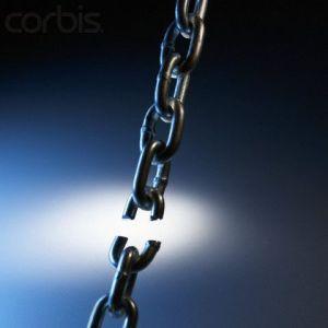 El eslabón más débil de la cadena.