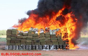 Destruyen cerca de cinco toneladas de droga en Sonora