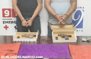 Detienen a 2 integrantes del CJNG con armas, droga y cartulinas en Tijuana