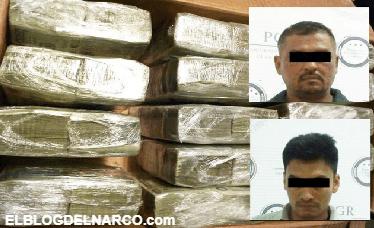 Elementos de la PGR capturan a 2 con 1.5 mdd, armas y cocaína en Escárcega Campeche