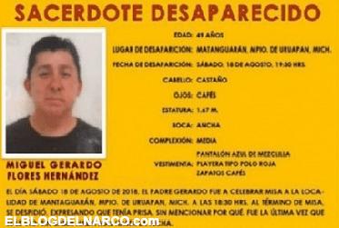 Encuentran ejecutado a sacerdote desaparecido en Michoacán
