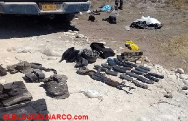 Fotografías de enfrentamiento entremilitaresy sicarios en Parás