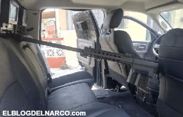 A disposición de PGR vehículos con blindaje artesanal, 13 armas, cargadores y cartuchos en Tamaulipas