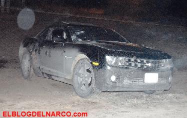 """Abordo de un Camaro ejecutan a """"El Macaco"""" que se había fugado hace un mes del penal disfrazado de policía en Sinaloa"""