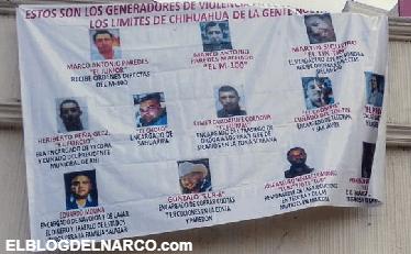 """Colocan """"narco mantas"""" para EL M-100 líder de la Gente Nueva (Imágenes)."""