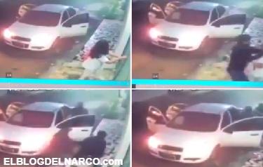 La pesadilla de una estudiante mexicana, el momento en que secuestran en la puerta de su casa