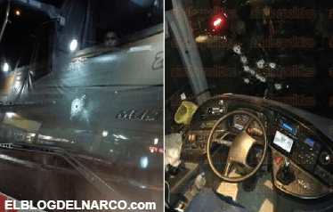 Un comando baleó un autobús de pasajeros que evadió un falso retén en una autopista de Veracruz