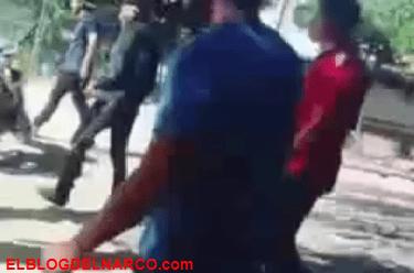 Vídeo donde sicarios hacen detonar una granada de Fragmentación en un terreno baldio
