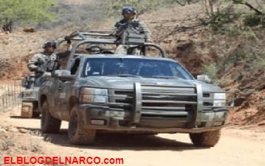 Atacan convoy con 21 militares en Badiraguato, Sinaloa dejando un militar muerto y 2 mas heridos
