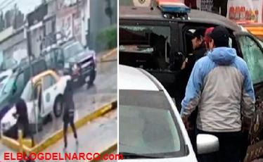 Filman poderoso ataque de sicarios del Narco a Policía en Nuevo León