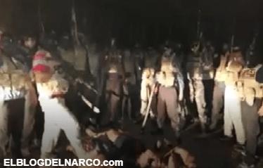 Vídeo donde Grupo Sombra descuartiza a cuatros con una hacha al estilo de los Zetas y manda mensaje a 'Chapulines'