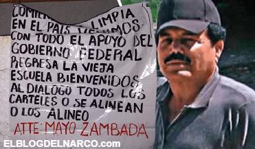 Regresa la vieja escuela, aparecen narcomensajes con amenazas de El Mayo Zambada