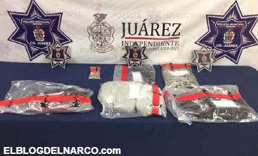 Capturan a hermanas de 14 y 15 años con armas y droga en Ciudad Juárez