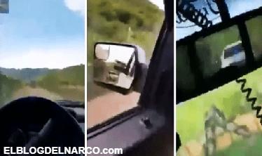 Exhiben convoy del Cártel de Sinaloa cuidando la plaza en el Triángulo Dorado. (VÍDEO)