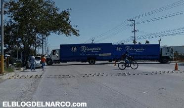 Grupo del narco bloquea las calles de Tamaulipas con ponchallantas