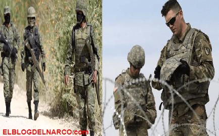 Militares mexicanos interrogan a soldados de EU, los elementos mexicanos apuntaron con sus armas a los estadounidenses, retirando el arma de uno de ellos