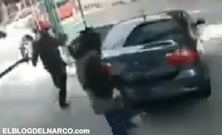Sicarios del narco ejecutan a tres en taller mecánico en México (VÍDEO)