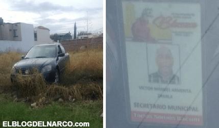 Ejecutan a secretario de Bácum, Sonora, Victor Manuel Armenta