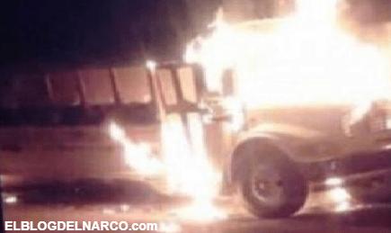 Queman nuevo camiones en Ciudad Juárez, hay heridos