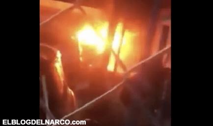 El Cártel del Noreste incendia lote de autos, taller mecánico y tráiler con bombas molotov (VÍDEO)