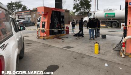 Ladrón intenta robar una troca a sicarios cuando cargaban combustible y lo acribillan a balazos en Reynosa