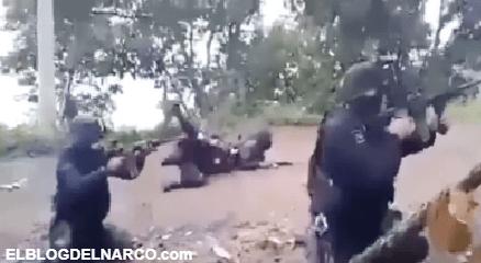 Vídeo inedito de la impresionante balacera en Michoacán donde Policías se enfrentan a narcos