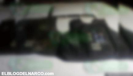 Decomisan droga con las siglas del CJNG, ropa táctica y troca robada, en Tangamandapio