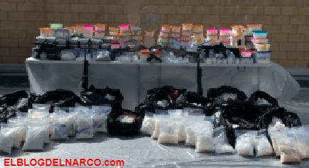 Decomisan más de 1.3 toneladas de drogas en California