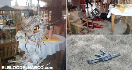 Ejecutan a dos a balazos mientras comían dentro de restaurante en México (IMAGENES)