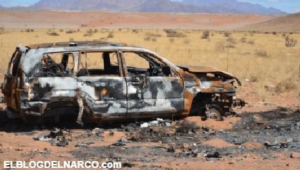 Encuentran tres camiones calcinados y baleados en Bocoyna, Chihuahua