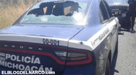 Atrincherados desde un cerro como cobardes, Sicarios emboscan a Estatales en Michoacán
