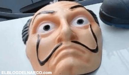 """Dos delincuente utilizaron máscaras de """"La Casa de Papel"""" para cometer delitos en CDMX"""