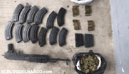 El Cartel del Golfo deja camionetas abandonadas con arma y droga al huir de la Guardia Nacional