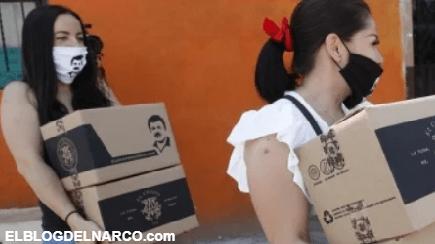Por COVID-19 y A nombre de El Chapo entregan despensas también en Guadalajara