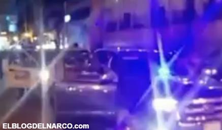"""VÍDEO """"Somos CJNG"""" Llegan a plaza principal retando autoridades y al Cartel del Golfo"""