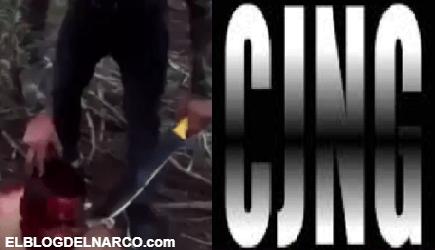 VÍDEO Brutal sicarios del CJNG le cortan la cabeza a El Cholo de la Familia Michoacana