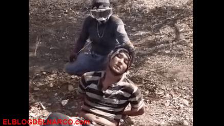 Vídeo donde La familia Michoacana le cortan la cabaza con un machete a un sicario del CJNG