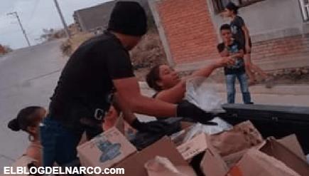 Vídeo y fotos el C.J.N.G también reparte despensas por el COVID-19 en San Luis Potosí