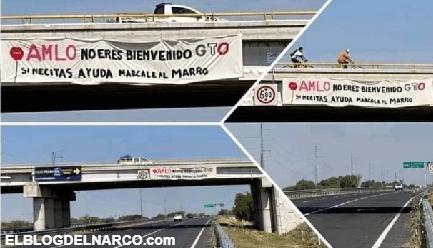 Dejan narcomanta con mensaje dirigido al presidente Andrés Manuel López Obrador
